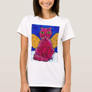 AngelCatPink Playera