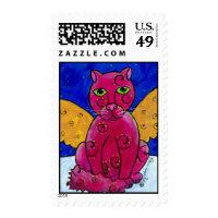 AngelCatPink Stamp