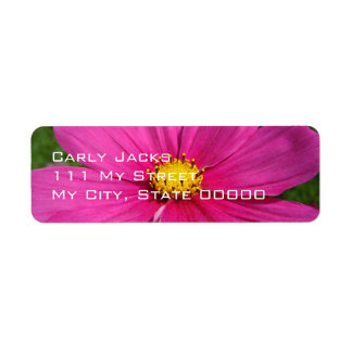 Angeled Pink Cosmo Return Address Label