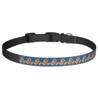 Ángeles adaptables del día de fiesta del vintage collar de perro