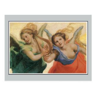 Ángeles, alegoría de las virtudes, Correggio Postal
