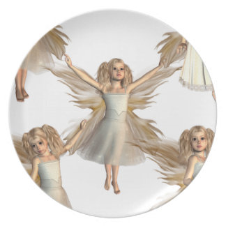 Ángeles angelicales plato para fiesta