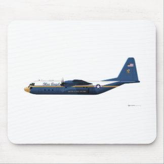 Ángeles azules de Lockheed C-130 Hércules azules Mouse Pad