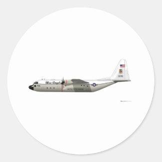 Ángeles azules de Lockheed C-130 Hércules grises Pegatina Redonda