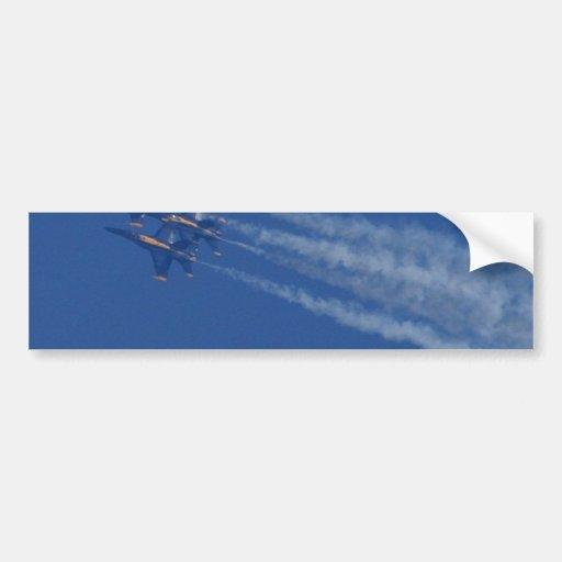 Ángeles azules de los aviones de reacciones pegatina de parachoque