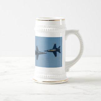 Ángeles azules jarra de cerveza