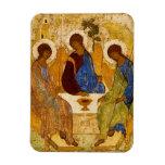 Ángeles bizantinos en una tabla imanes de vinilo