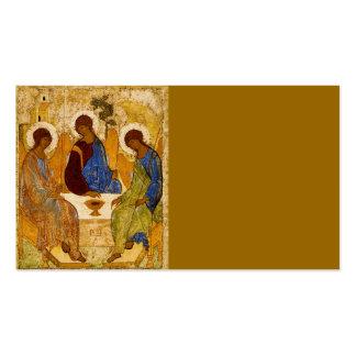 Ángeles bizantinos en una tabla tarjetas de visita