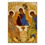 Ángeles bizantinos en una tabla tarjetas