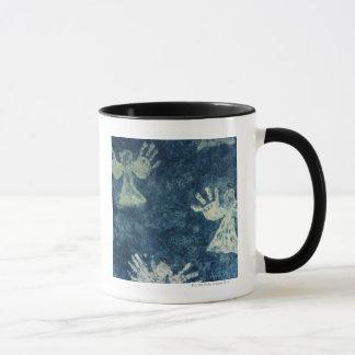 Ángeles de la mano taza