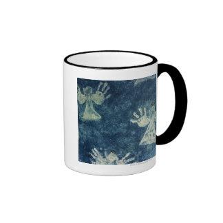 Ángeles de la mano taza de dos colores