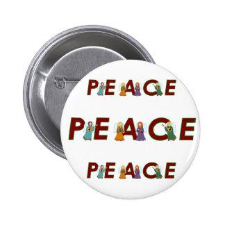 Ángeles de la paz pin redondo 5 cm
