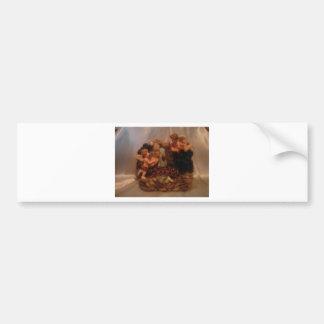 Ángeles de la querube etiqueta de parachoque