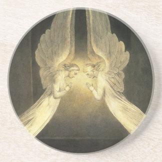 Ángeles de la religión del cristianismo del posavasos diseño