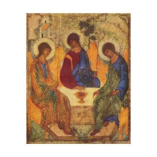 Ángeles de la trinidad en Mamre Impresión De Lienzo