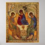 Ángeles de la trinidad en Mamre Póster