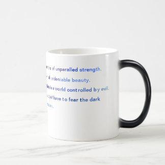 Ángeles de los guerreros oscuros taza