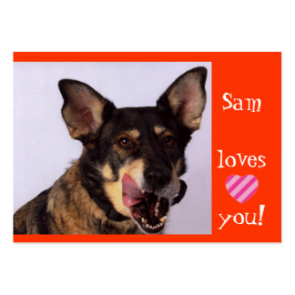 Ángeles de Sam en un correo Plantilla De Tarjeta Personal