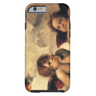 Ángeles de Sistine Madonna por Raphael, arte Funda De iPhone 6 Tough