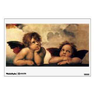 Ángeles de Sistine Madonna por Raphael arte renac