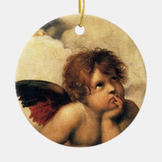 Ángeles de Sistine Madonna por Raphael arte renac Ornamente De Reyes