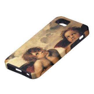 Ángeles de Sistine Madonna por Raphael, arte renac iPhone 5 Cárcasas