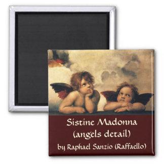 Ángeles de Sistine Madonna por Raphael arte renac Iman