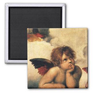Ángeles de Sistine Madonna por Raphael arte renac Imanes