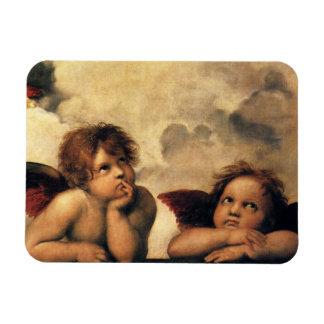 Ángeles de Sistine Madonna por Raphael arte renac Iman De Vinilo