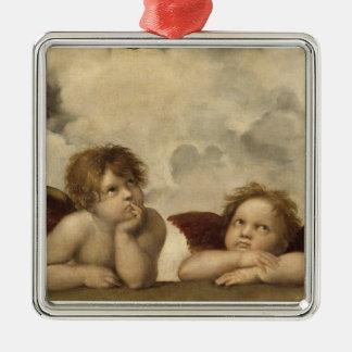 Ángeles de Sistine Madonna por Raphael Ornamentos De Navidad
