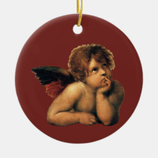 Ángeles de Sistine Madonna por Raphael Raffaello Ornamentos De Navidad