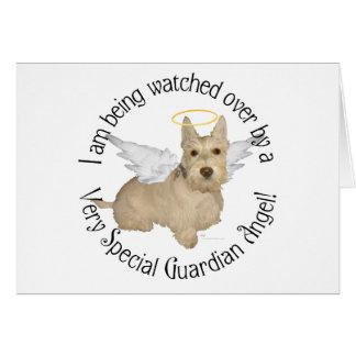 Ángeles de trigo de Terrier del escocés Tarjeta De Felicitación