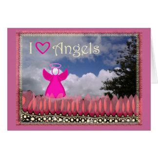 Ángeles del amor tarjeta de felicitación