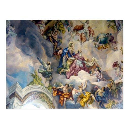 ángeles del Barroco del fresco Tarjetas Postales