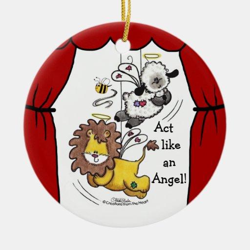 Ángeles del león y del Cordero-Juego Ornamentos De Reyes