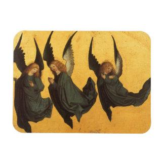 Ángeles del navidad del renacimiento, amo de imán foto rectangular