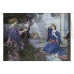 Ángeles del navidad del vintage, anuncio, tarjeta de felicitación