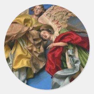 ángeles del navidad pegatinas redondas
