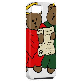 Ángeles del oso de peluche del canto en trajes funda para iPhone SE/5/5s