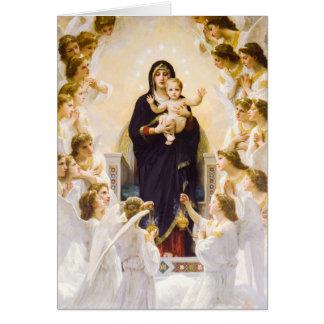 Ángeles del reino de la gloria tarjeta de felicitación