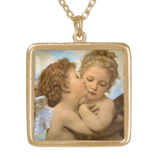 Ángeles del Victorian del vintage, primer beso por Collar Dorado