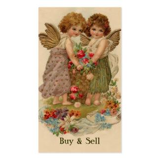 ángeles del victorian tarjetas de visita