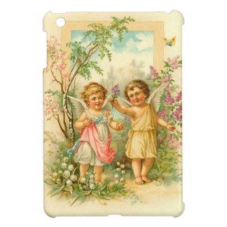 Ángeles del vintage en el jardín iPad mini cárcasa