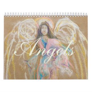Ángeles: Detalle de dibujos en colores pastel Calendario