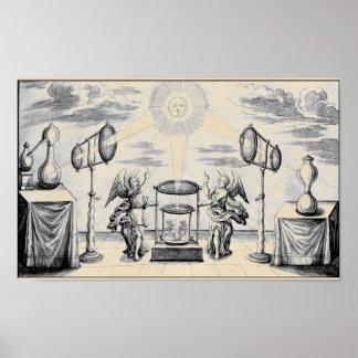Ángeles divinos de la alquimia póster