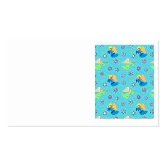 Ángeles en azul - copos de nieve y trompetas tarjetas de visita