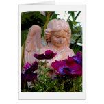 Ángeles en el jardín… tarjeta de felicitación