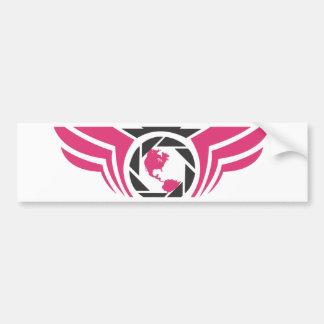 Ángeles en el logotipo Pink.pdf de la fotografía d Pegatina De Parachoque