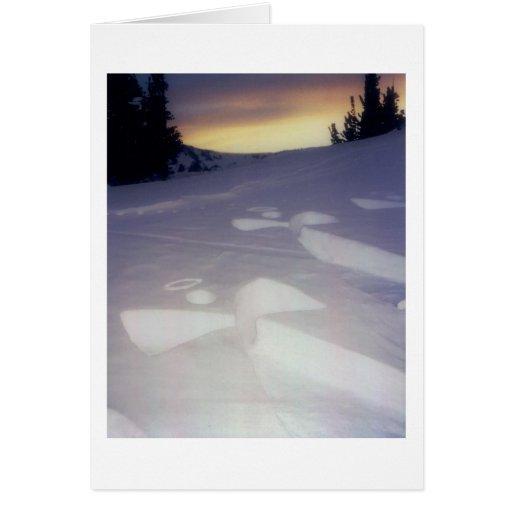 Ángeles en la puesta del sol tarjeta de felicitación