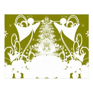 Ángeles en verde tarjeta postal
